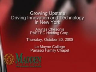 Growing UPstate: Driving Innovation <br />and Technology in New York<br />10/30/08